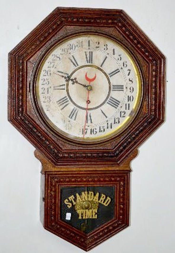 Oak Gilbert Admiral Calendar Wall Clock