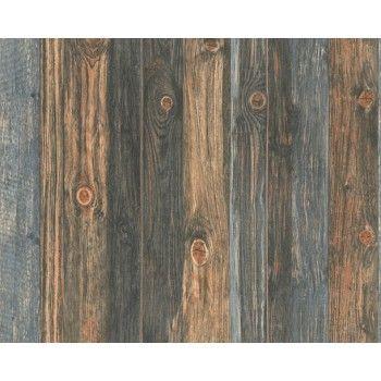 Charcoal Paneled Timber Wallpaper