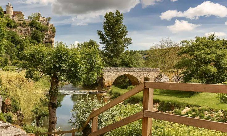 Hotel Le Pont de l'Ouysse in Lacave, France #hotel #riverview