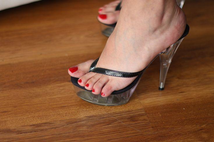 hot high heels thong sandals | Thong Platform clear Heels | Flickr