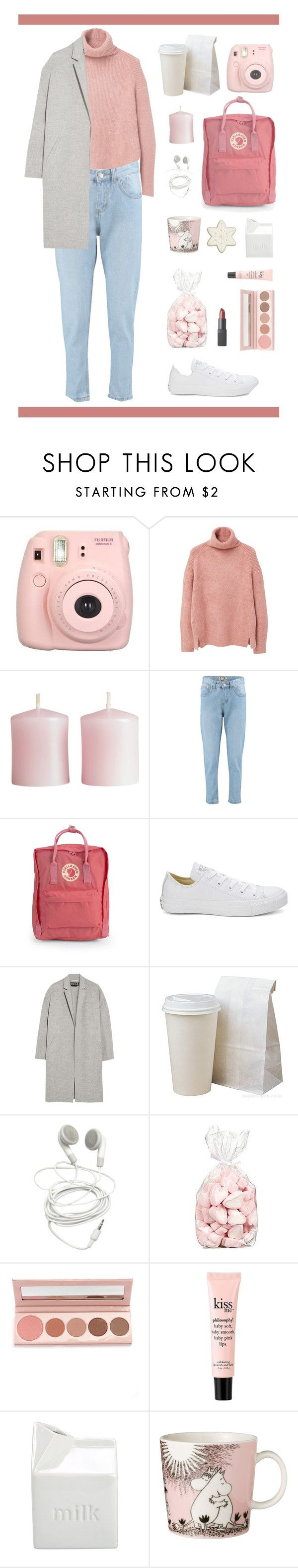 """""""Noora Saetre // SKAM"""" by unknown-female ❤ liked on Polyvore featuring Fujifilm, MANGO, H&M, Boohoo, Fjällräven, Converse, Rochas, 100% Pure, philosophy and BIA Cordon Bleu"""