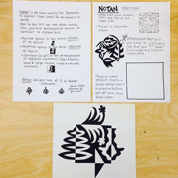 Art Room Handouts Notan Designs Positive and Negative Space