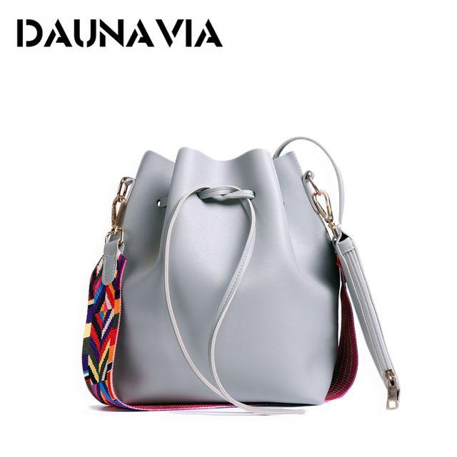 Good Price $11.69, Buy DAUNAVI Women Bucket Bags Women's Handbags PU Leather Tassel Brands Tote Bag Shoulder Messenger Bags Ladies Crossbody Bag Bolsas