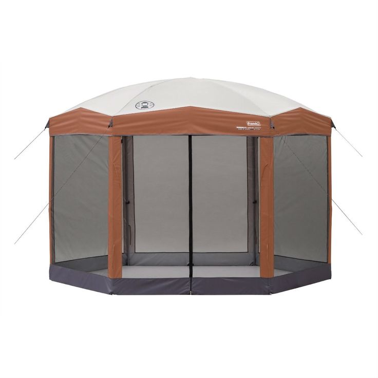 Instant 12ft x 10Ft Hexagon Screened Canopy Gazebo with Removable Insect Screen - Quality House