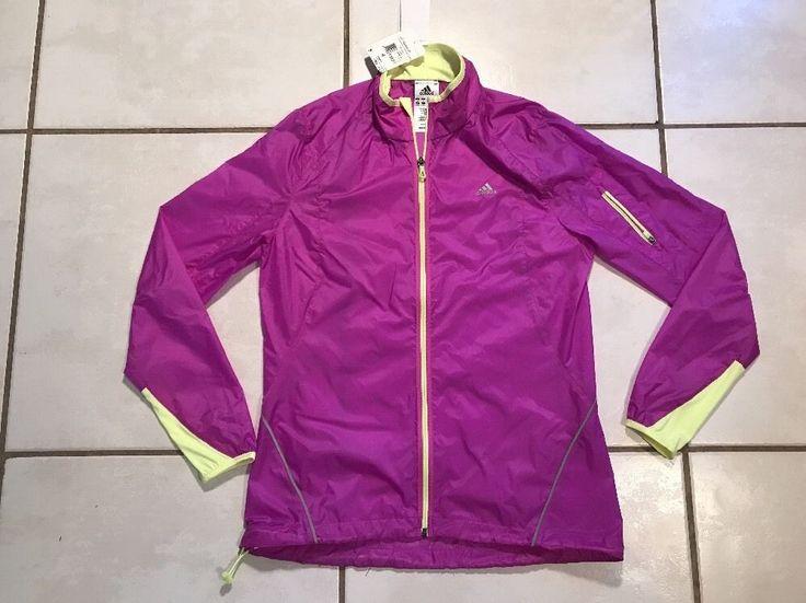 NWT ADIDAS ClimaSpeed  PURPLE Lightweight Zip Up Jacket Women's Small  | eBay