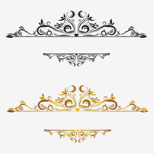 Vintage Border Lace Pattern Border Small Elements Png And