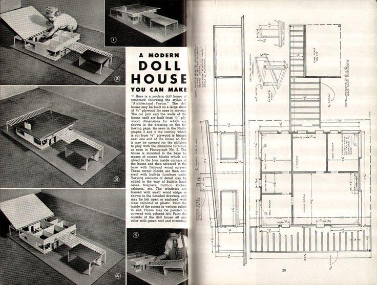 Make Your Own Doll House Blueprint Pinterest House