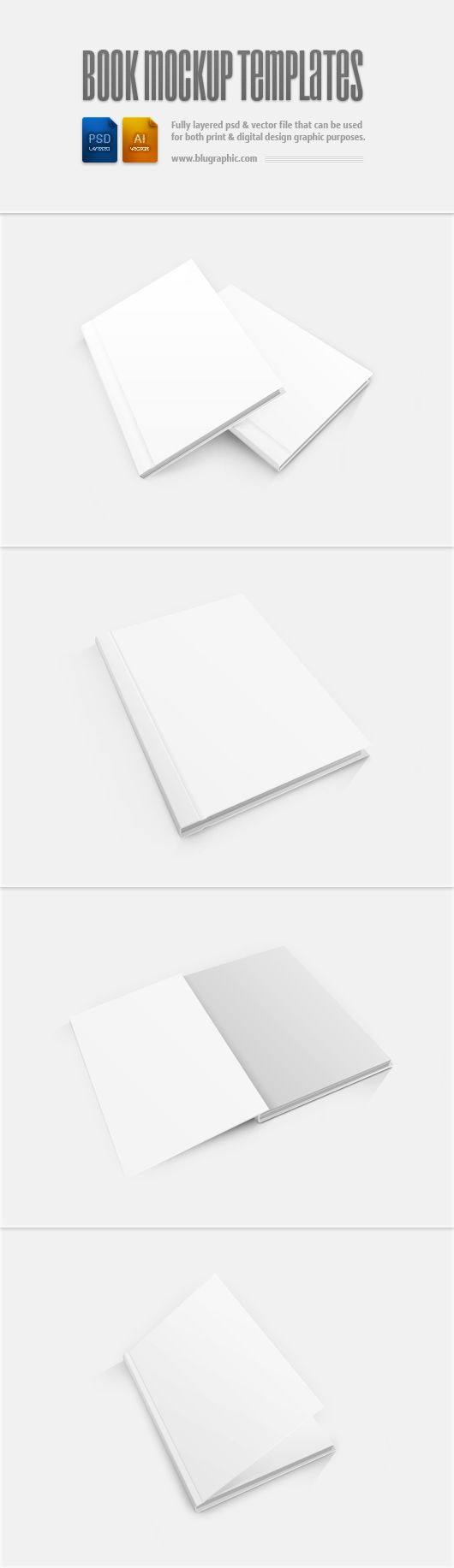 Book Mockup Template (Psd)  http://www.blugraphic.com/2013/05/29/book-mockup-template-psd/