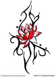 tribal flower tattoo design - Recherche Google