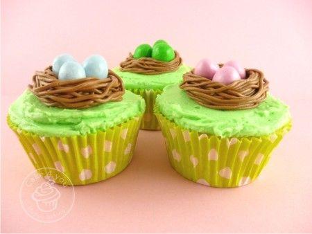Vogelnestjes: Snelle paas cupcakes