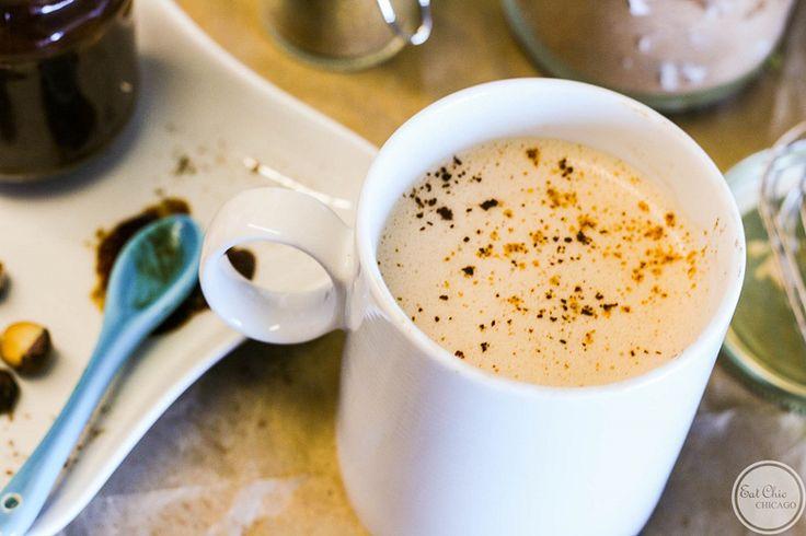 Coconut Nutella Mocha with Homemade Nutella - Stone Soup - October 2014 #recipe