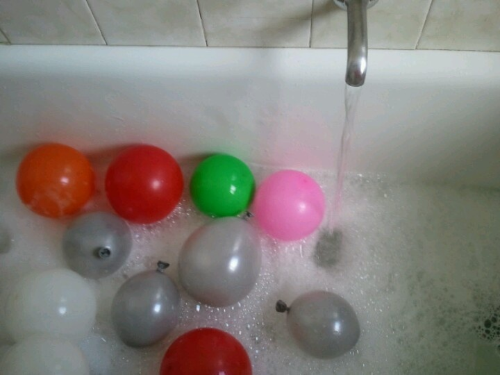 Balloon bubble bath nice for the kids too cool off in when it so hot out side.
