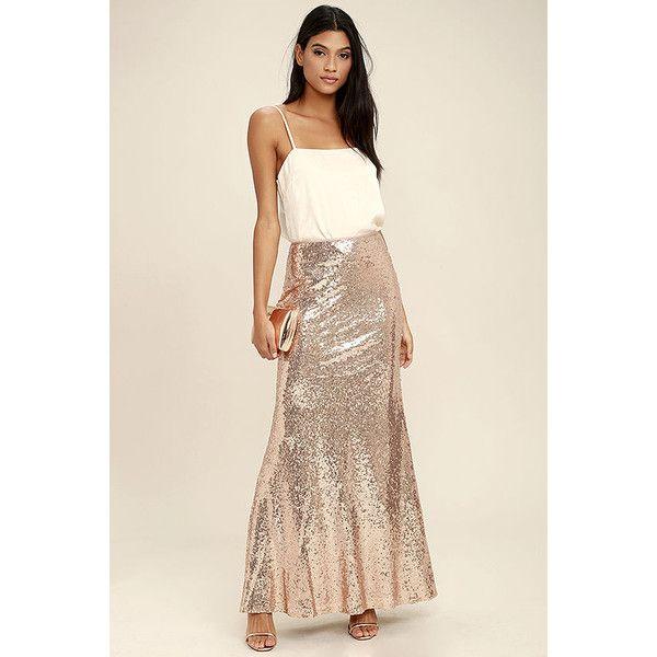 Best 25  Long sequin skirt ideas on Pinterest   Sequin maxi skirts ...