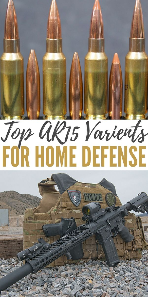 Top AR15 Variants for Home Defense - This article talks about creating rifles with alternate calibers in the style of the AR15 particular for home defense.