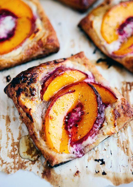 Peach Tarts with Goat Cheese & Honey