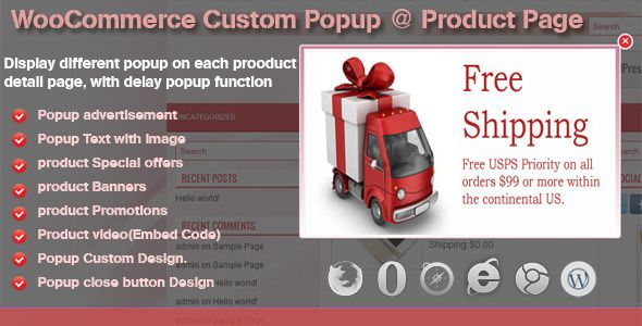 """Custom Popup @ Product Page for WooCommerce   http://codecanyon.net/item/custom-popup-product-page-for-woocommerce/6337946?ref=damiamio               If this module is useful, could you please help us to rate it? it will be a big encouragement to improve for us.  WooCommerce Custom Popup @ Product Page  """"WooCommerce Custom popup @ product page"""" plugin is an amazing WooCommerce product details page popup plugin which allows the site Admin to create Custom Popup, place YouTube/Vimeo embed…"""