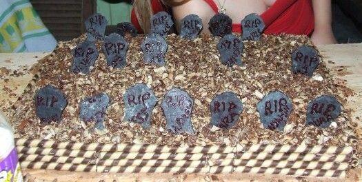 Halloween edible graveyard