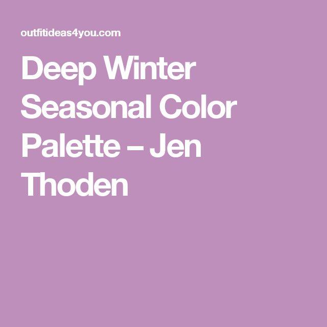 Deep Winter Seasonal Color Palette – Jen Thoden