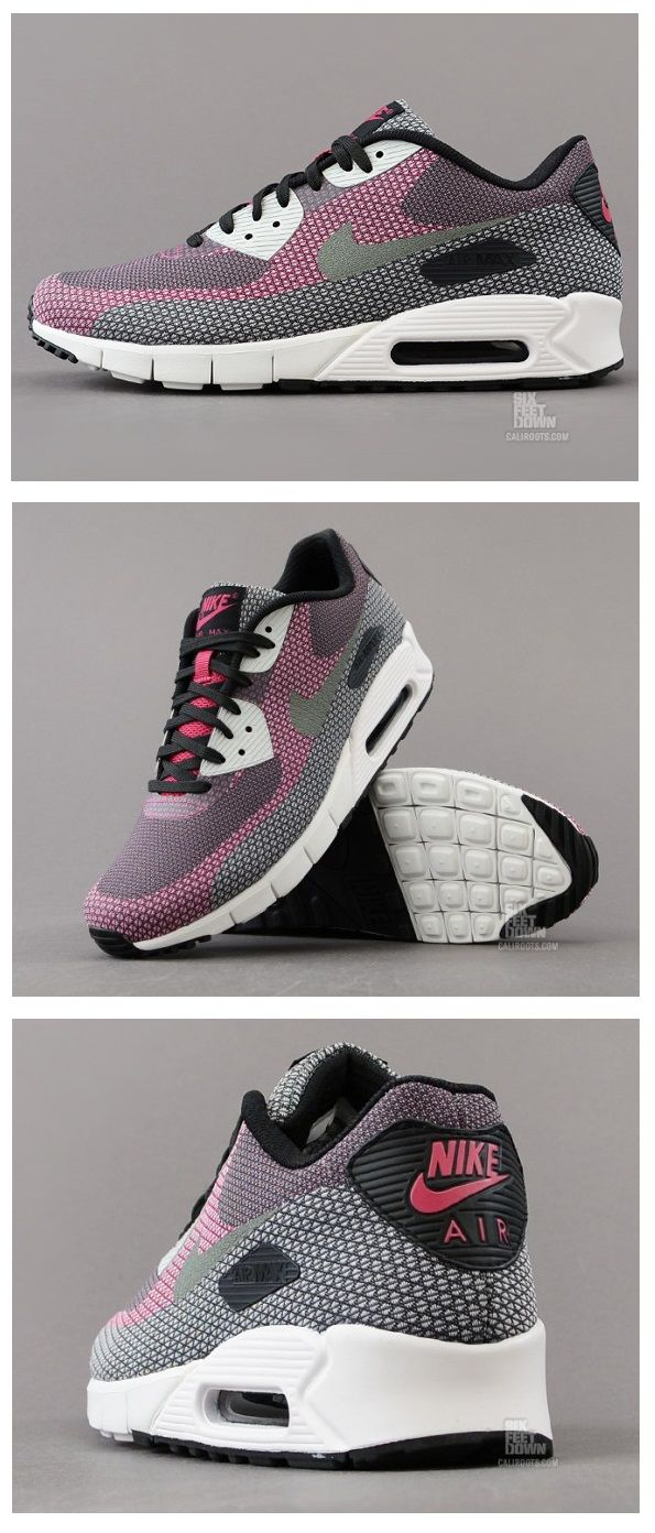 Nike Air Max 90 JCRD: Black/Grey/Anthracite/Bright Magenta