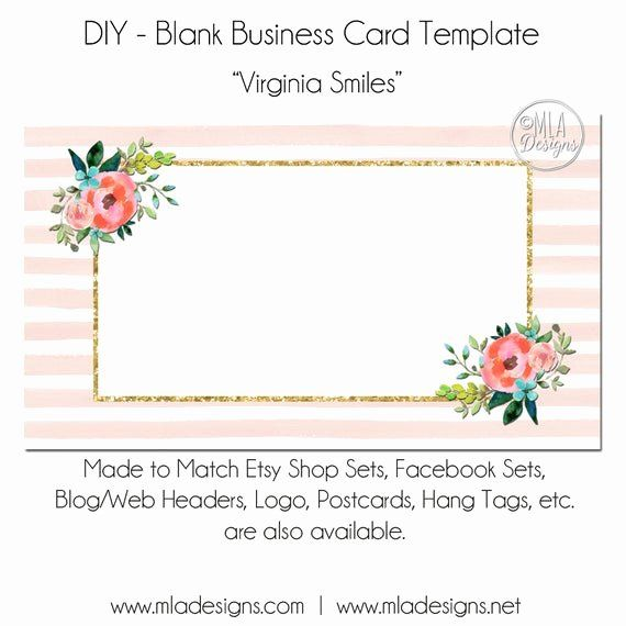 Blank Template For Business Cards Fresh Floral Business Card Template Virginia Smiles Free Business Card Templates Blank Business Cards Business Card Template