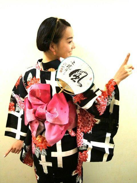 ZOZOPEOPLE | 篠原 ともえ - 富山でNHK万葉集の番組☆♪浴衣着たよ☆♪