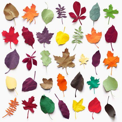 Paper leaves....so beautiful!