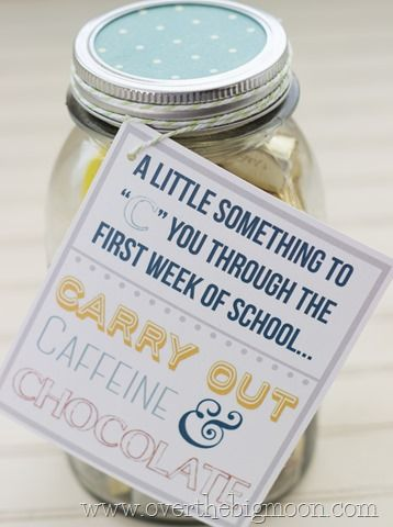 Perfect gift for your child's teacher on the first day of school! Free Printable