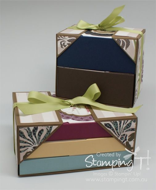 Stampin' Up! Stamping T! - Box-N-Wrap Sets I love, love, love this boxed stationery set! I might have to offer this as a class.