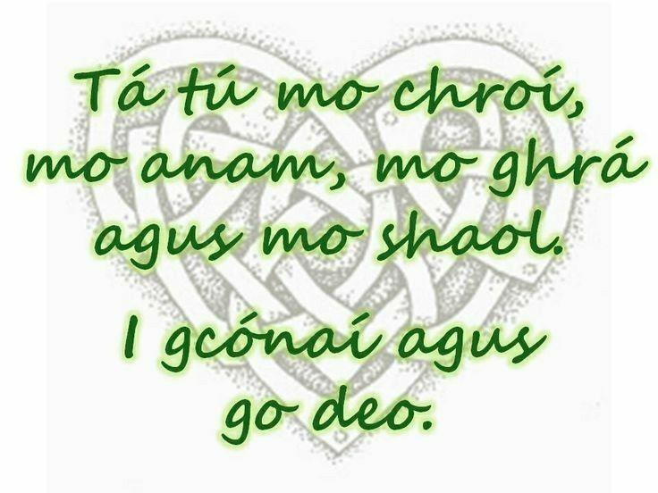 Pin by Erin Cross on Irish in 2019 | Irish quotes, Gaelic