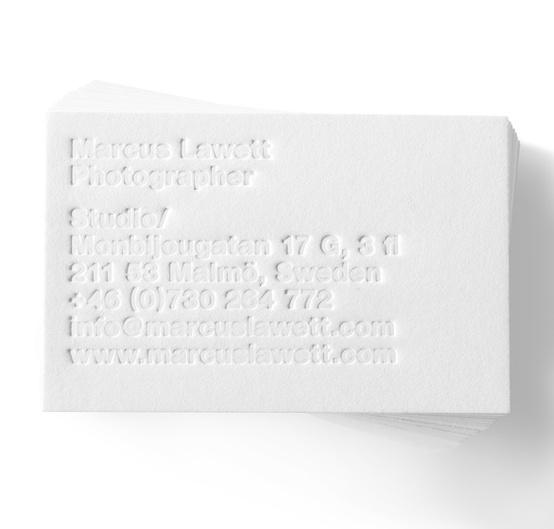 Blind emboss / Toby Designs