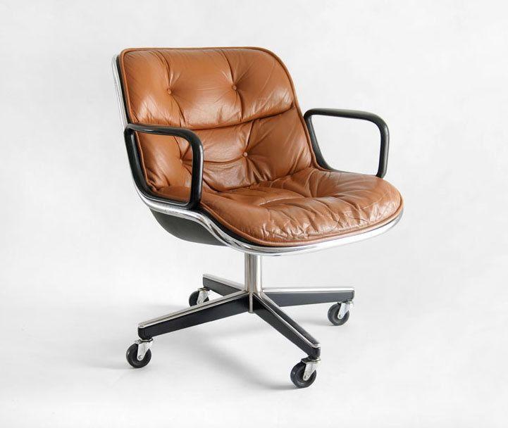 vintage knoll pollock executive armchair modern officeshome officesoffice desk chairsmodern - Designer Desk Chair