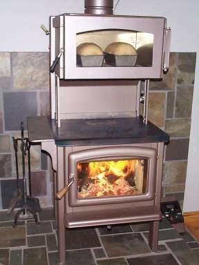 Wood-Burning Cook Stoves   The wood stove used for space and water heating and cooking.