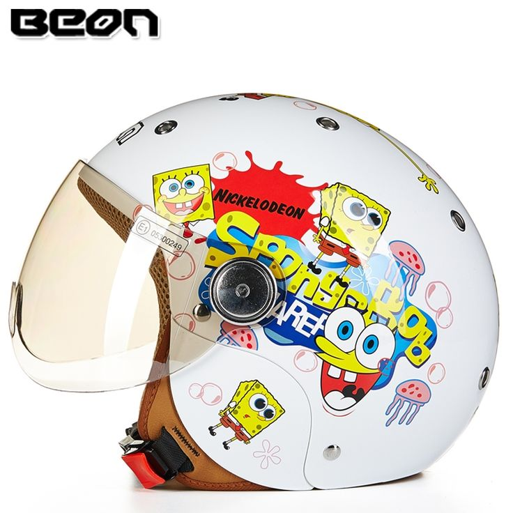 63.00$  Buy now - http://ali2qw.worldwells.pw/go.php?t=32597285670 - New arrival High quality Kids motorcycle helmet,Cartoon Hellokitty Spider-Man helmet SpongeBob casco Birthday gifts for children 63.00$