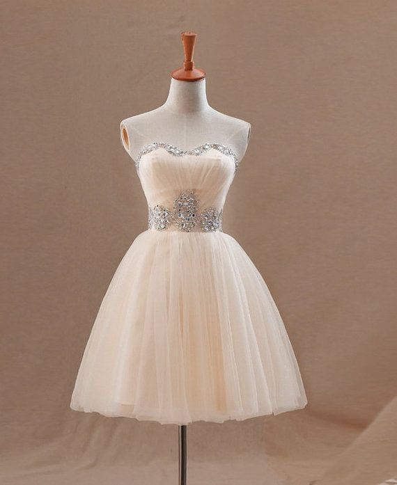 Pink Tulle Cocktail DressStrapless Short Homecoming by UrDress, $129.00