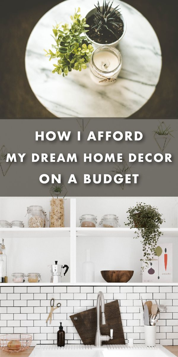 This is how I get modern-chic decor on a budget.