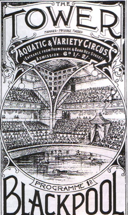 We really like this #vintage programme advertising the Tower Circus! #Blackpool