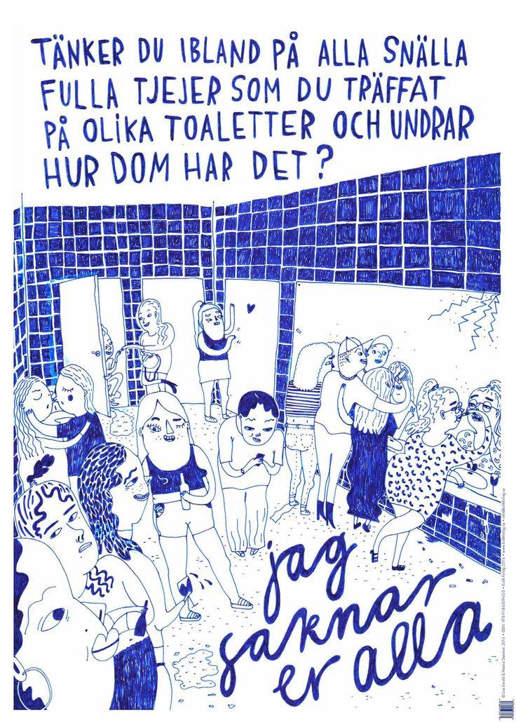 Affisch/Tjejer på toaletter av Hanna Stenman och Lisa Ewald