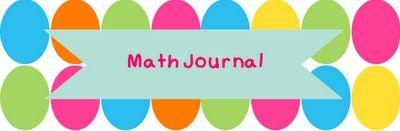 Free Math Journal Labels A Modern Teacher