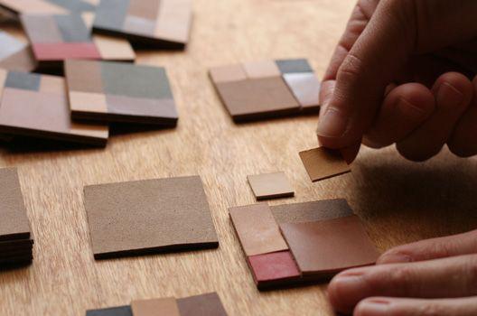 calotte leather handmade