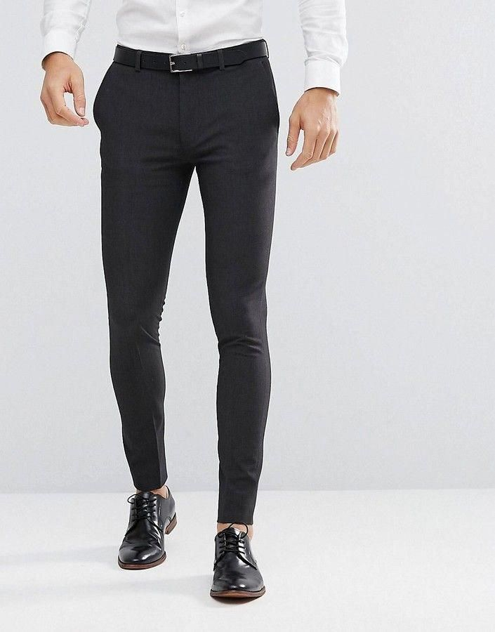 Asos Super Skinny Fit Suit Pants In Charcoal Menssuitscasual Skinny Slacks Men Pants Outfit Men Mens Jeans Fit