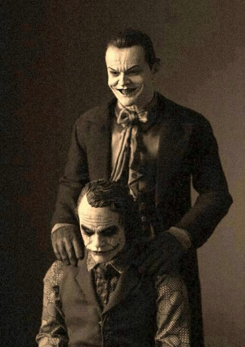 The is the illest picture of the Joker I've ever seen. It has a weird Father-Son vibe to it.