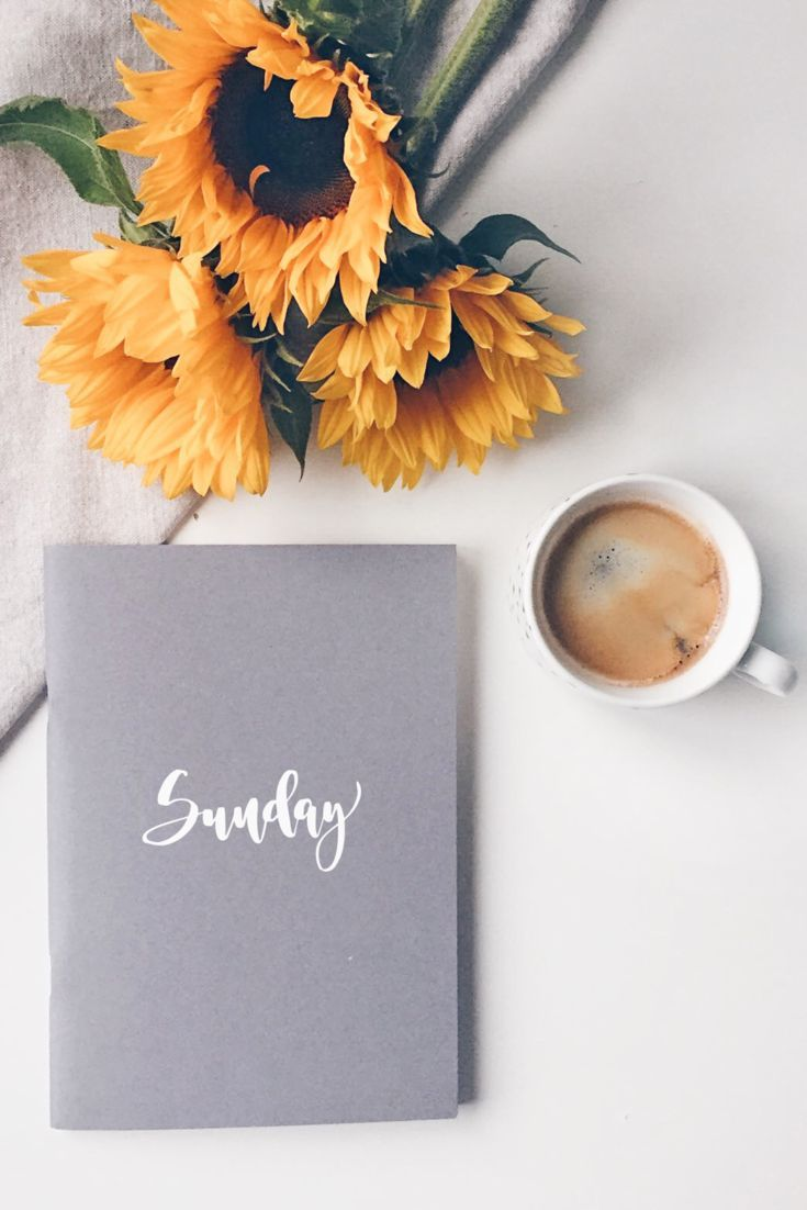 Sunflowers, coffee and calligraphy on this beautiful Sunday morning!