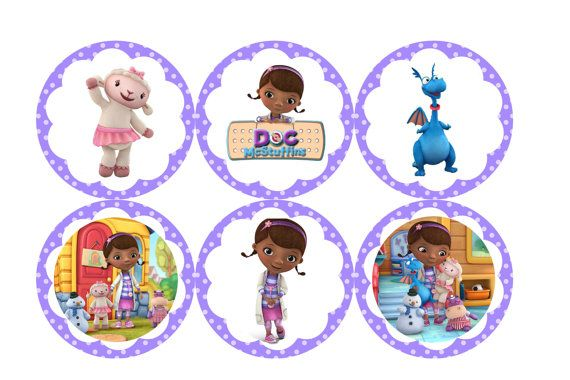 Doc McStuffins Party Circles Great for by SandInMyShoesDesigns