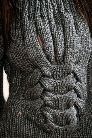 Love the close up detail of this cable knit #knit