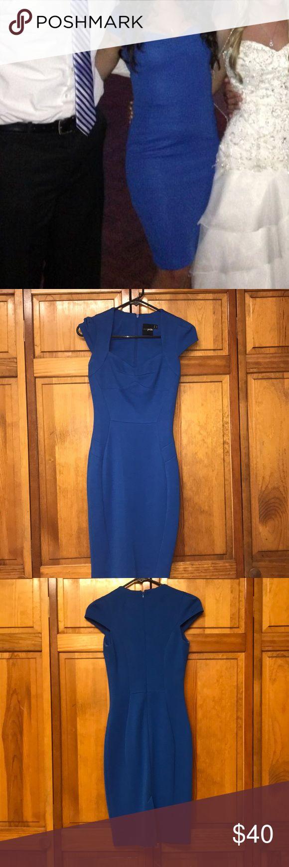 PETITE midi royal blue dress Asos PETITE midi blue dress Only worn once ASOS Dresses Midi