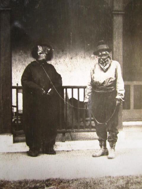 Halloween Bondage Costumes...Bizarre 1900's  Vintage Photo. $300.00, via Etsy.
