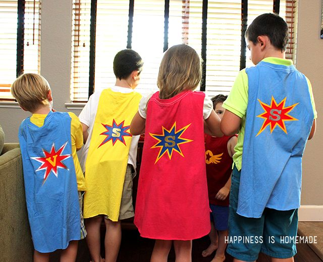 diy personalized superhero cape from a t shirt happiness is