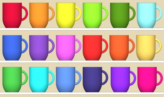 Colorful Mugs Jigsaw Puzzle - (416 pieces)