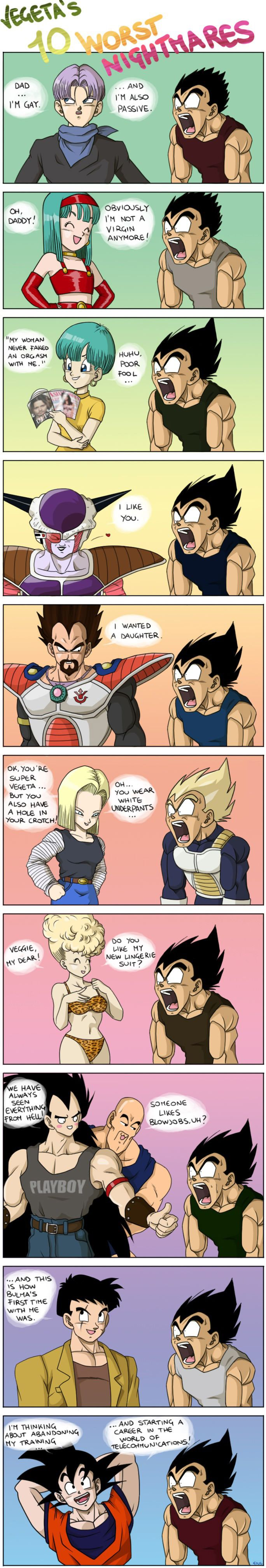 Vegeta's Ten Worst Nightmares