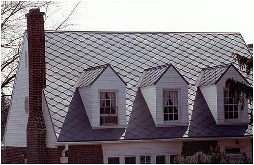 CastleTop diamond-shaped flat metal tile roof - ATAS Roofing